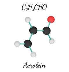 C2H3CHO acrolein molecule vector image