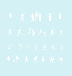 collection people silhouettes vector image
