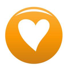 Cruel heart icon orange vector