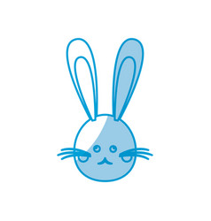 Cute head bunny easter character vector