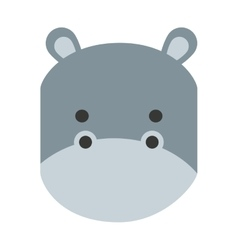 Cute hippo isolated icon design vector