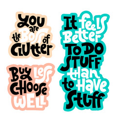 decluttering quotes lettering vector image