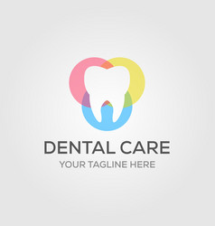 dental care or dentist logo designs in luxury vector image