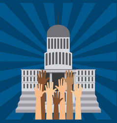 elections day design vector image