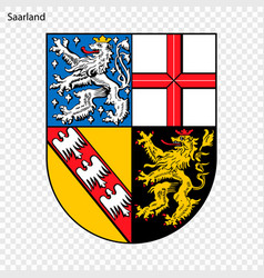emblem of saarland province of germany vector image