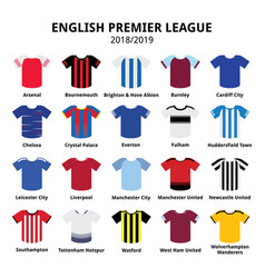 english premier league kits 2018 - 2019 football vector image