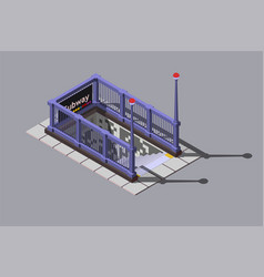 entrance to underground metro station vector image