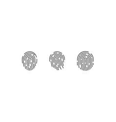 fingerprint logo vector image