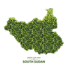 Green leaf map south sudan vector