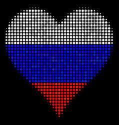 Halftone russian hearts suit icon vector