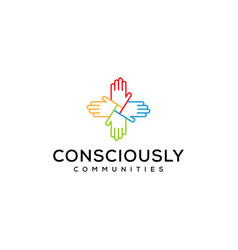 hand community vector image