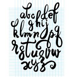 Handwritten brush script letters isolated vector