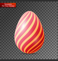 happy easter egg on transparent background vector image
