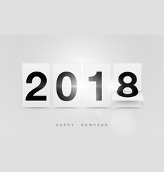 happy new year 2018 in scoreboard design vector image