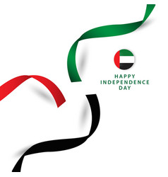 Happy uae independent day template design vector