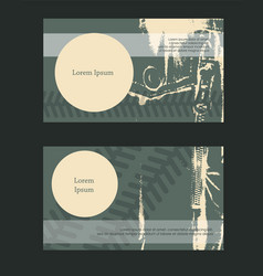Horizontal booklet grunge casual style vector