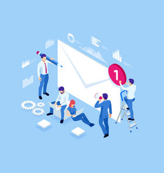 isometric mailing list or mailing services online vector image