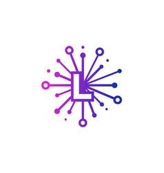 L share letter logo icon design vector