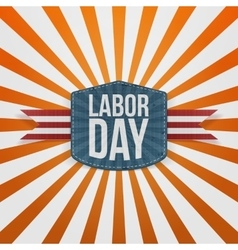 Labor Day realistic paper Badge vector