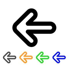 left arrow stroke icon vector image