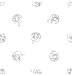 magnifier on earth pattern seamless vector image