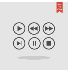 Media player buttons collection design vector