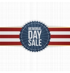 Memorial Day Sale realistic Banner and Ribbon vector image