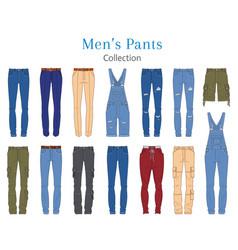 Men s pants collection vector