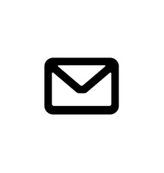 message closed envelope icon vector image