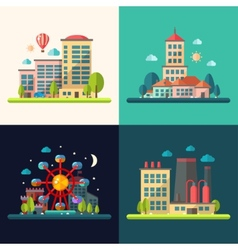 Modern flat design conceptual city vector