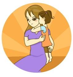 mom vector image