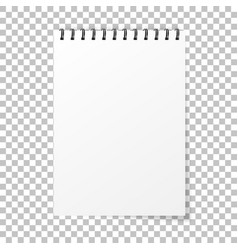notebook mockup note with spiral notebook vector image