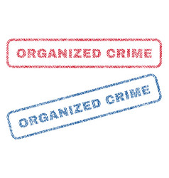 Organized crime textile stamps vector