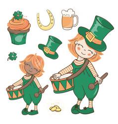 Patricks march saint patrick day cartoon vector