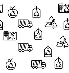Recycling seamless pattern vector