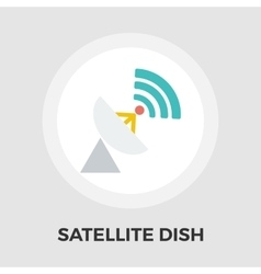 Satellite antenna flat icon vector image