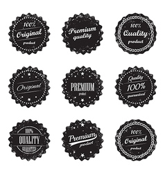 set vintage product labels - quality guaranteed vector image