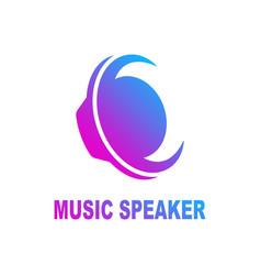 speaker sound logo sound speaker and musical logo vector image