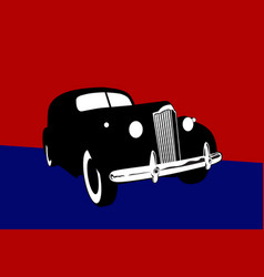 stylized image a vintage car vector image
