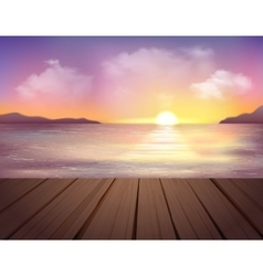 Sunset And Sea Background vector