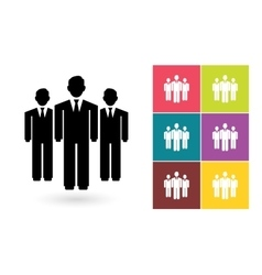 Team icon or business team symbol vector image