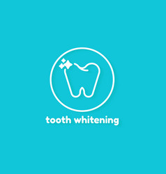 template logo for tooth whitening on blue vector image