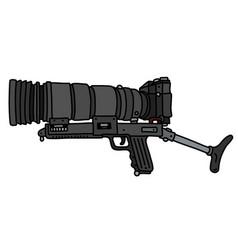 The black photo gun vector