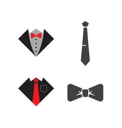 tie graphic design template vector image