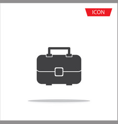 travel bag icon isolated on white background vector image