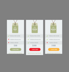 trendy price list and offer columns flat vector image