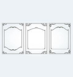 Vertical frames and borders set decorativ vector