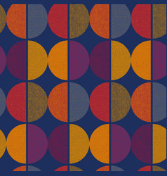 Vintage color geometric round seamless pattern vector