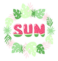 watermelon font vector image