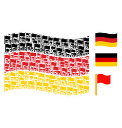 waving germany flag pattern of waving flag items vector image